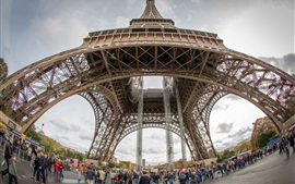 EURO 2016 voyage de football, Paris, Tour Eiffel, France