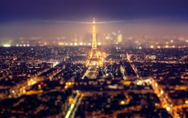 Preview wallpaper France, Paris, city, Eiffel Tower, lights, beautiful night