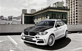 Preview wallpaper Hamann BMW X6M F16 car, black white crossover