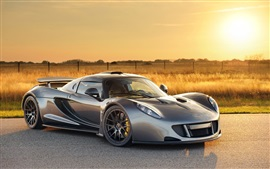 Preview wallpaper Hennessey Venom GT silver color supercar