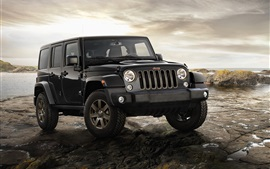 Preview wallpaper Jeep Wrangler, black car