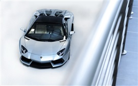 Preview wallpaper Lamborghini supercar top view