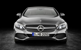 Preview wallpaper Mercedes-Benz C-Class Cabriolet AMG A205 front view