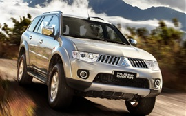 Preview wallpaper Mitsubishi Pajero Dakar, SUV car speed