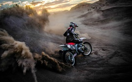 Preview wallpaper Motorcycle race, sports, dust