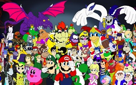 Preview wallpaper Nintendo games character tribute