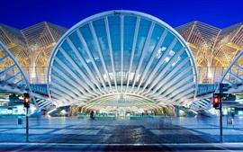 Aperçu fond d'écran Oriente Station, Lisbonne, Portugal