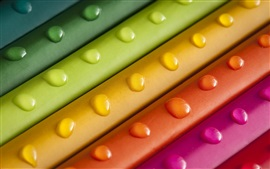 Preview wallpaper Rainbow colors, dew