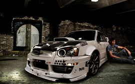 White tuning cars