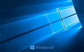 Preview wallpaper Windows 10 system logo, blue style background