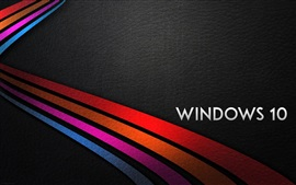 Preview wallpaper Windows 10 system, rainbow stripes background