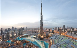 Preview wallpaper World's tallest building, Burj Khalifa, Dubai