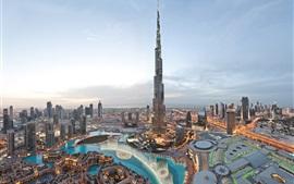 o edifício mais alto do mundo, o Burj Khalifa, Dubai