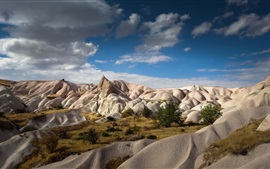 Preview wallpaper Zemi Valley, Cappadocia, Turkey, blue sky, beautiful landscape