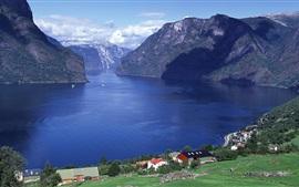 Preview wallpaper Aurlandsfjord, Sogn og Fjordane county, Norway