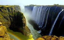 Preview wallpaper Beautiful waterfalls, Victoria Falls, Livingstone, Africa
