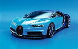 Preview wallpaper Bugatti Chiron blue supercar