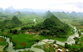 Preview wallpaper China tourist attractions, Guilin, Yangshuo views