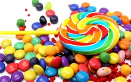 Colorful candy, sweet food