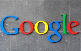 Google logotipo de color, fondo de la pared