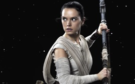 Daisy Ридли, как Рей, Star Wars: The Force Awakens