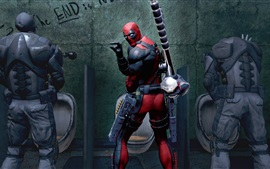 Preview wallpaper Deadpool game, look back