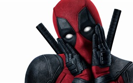 Preview wallpaper Deadpool, white background