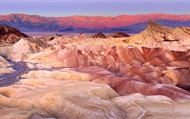 Preview wallpaper Death Valley, Furnace Creek, red rocks, California, USA