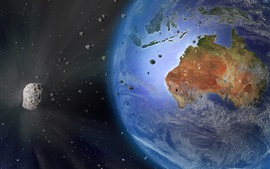 Preview wallpaper Earth, Australia, meteorite, space