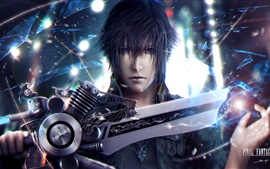 Preview wallpaper Final Fantasy XV, boy use sword