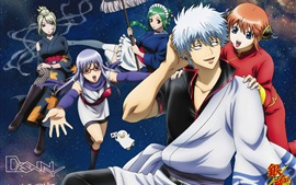 Preview wallpaper Gintama, cartoon anime