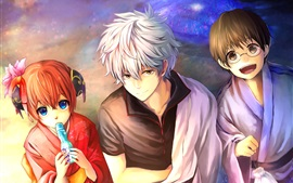 Preview wallpaper Gintama, classic anime