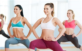 Preview wallpaper Girls workout