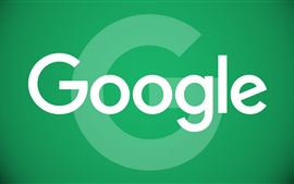 Preview wallpaper Google logo, green background