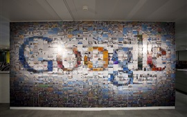 Preview wallpaper Google logo in the photo wall