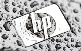 Preview wallpaper HP logo, water drops