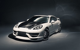 Preview wallpaper Hamann Porsche Panamera tuning car, white and black