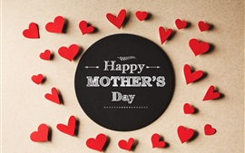 Preview wallpaper Happy Mother's Day, love hearts