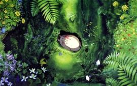 Preview wallpaper Hayao Miyazaki, My Neighbor Totoro, falling asleep