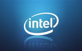 Preview wallpaper Intel brand logo, blue background