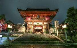 Preview wallpaper Japan, temple at night, lights