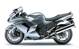 Preview wallpaper Kawasaki ZZR 1400 gray motorcycle