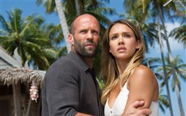 Preview wallpaper Mechanic: Resurrection, Jason Statham and Jessica Alba