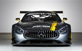 Preview wallpaper Mercedes-Benz C190 GT3 car front view