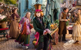 Preview wallpaper Mia Wasikowska and Johnny Depp, Alice Through the Looking Glass