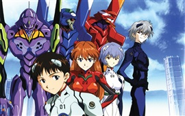 Preview wallpaper Neon Genesis Evangelion, anime widescreen