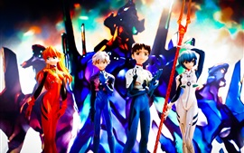 Preview wallpaper Neon Genesis Evangelion, cartoon character modeling