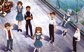 Aperçu fond d'écran Neon Genesis Evangelion, anime classique