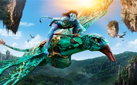 Preview wallpaper Neytiri in Avatar, riding Banshee