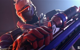 Preview wallpaper Overwatch, Soldier 76